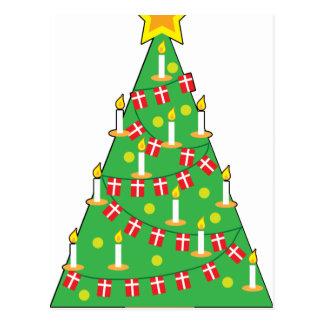 Danish Christmas Tree Postcard