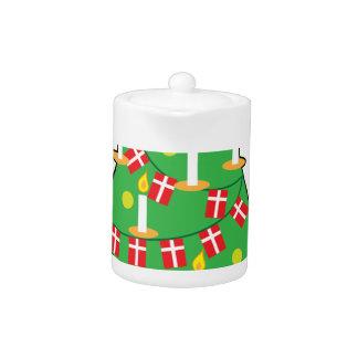 Danish Christmas Tree Teapot