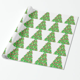 Danish Christmas Tree Wrapping Paper