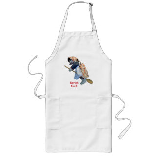 """Danish Cook"" Kitchen Witch Riding Spoon apron"
