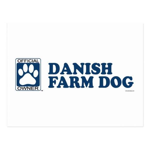 Danish Farm Dog Blue Postcard