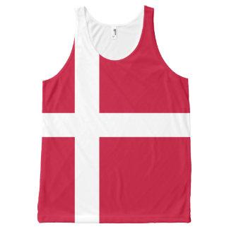 Danish flag All-Over-Print tank top