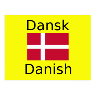 Danish Flag And Language Design Postcard