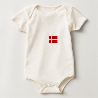 Danish flag baby bodysuit