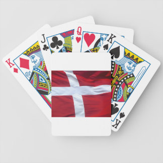 Danish Flag Bicycle Playing Cards
