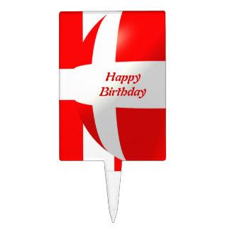 Danish Flag Birthday Cake Topper