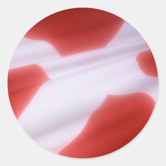 DANISH FLAG CLASSIC ROUND STICKER