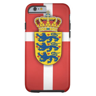 Danish Flag & Coat of Arms Tough iPhone 6 Case