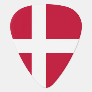 Danish flag guitar pick