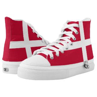 Danish flag High Top Shoes