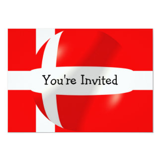 Danish Flag 5x7 Paper Invitation Card