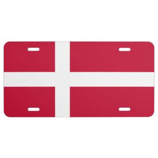 DANISH FLAG License Plate