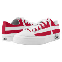 Danish flag Low Top Shoes Printed Shoes