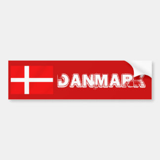 Danish flag of Denmark for Danes Bumper Sticker