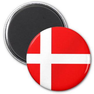 Danish flag of Denmark for Danes Magnet