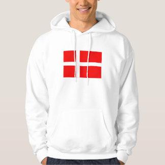 Danish flag of Denmark gifts for Danes Hoodie