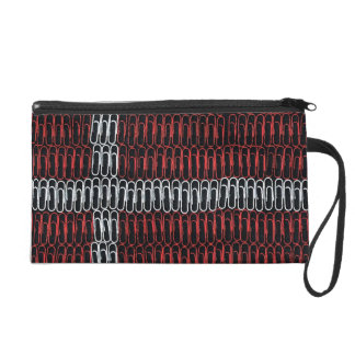 Danish Flag of Paperclips Wristlet Purses