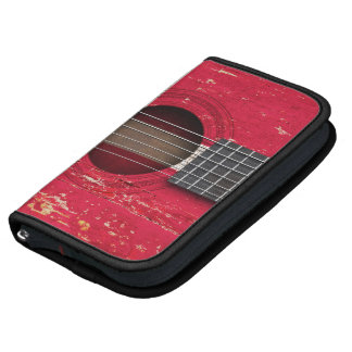 Danish Flag on Old Acoustic Guitar Planners