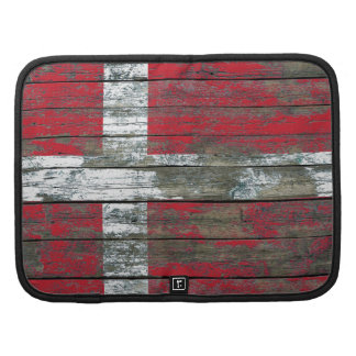 Danish Flag on Rough Wood Boards Effect Planner