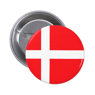 Danish Flag Pinback Button