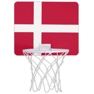 Danish flag mini basketball hoop