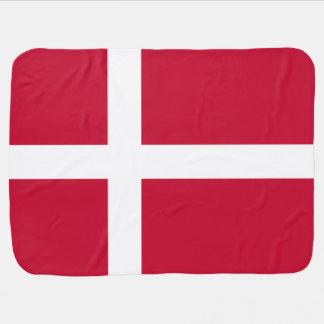 Danish flag receiving blanket