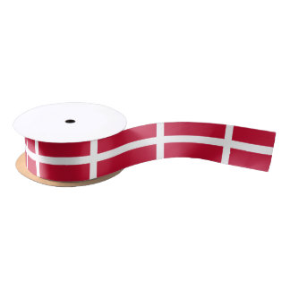 Danish flag ribbon satin ribbon