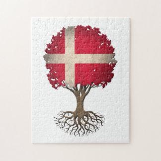 Danish Flag Tree of Life Customizable Puzzle