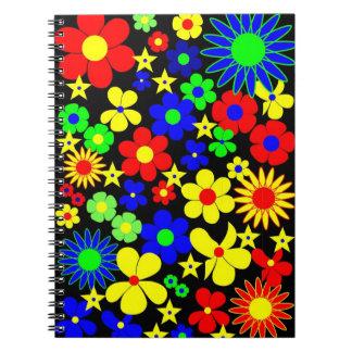 Danish Flowers - Flora Danica. Spiral Notebook