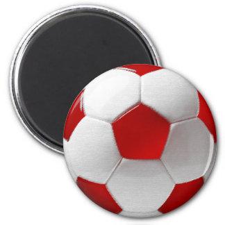 Danish fudbold soccer ball of Denmark Magnet