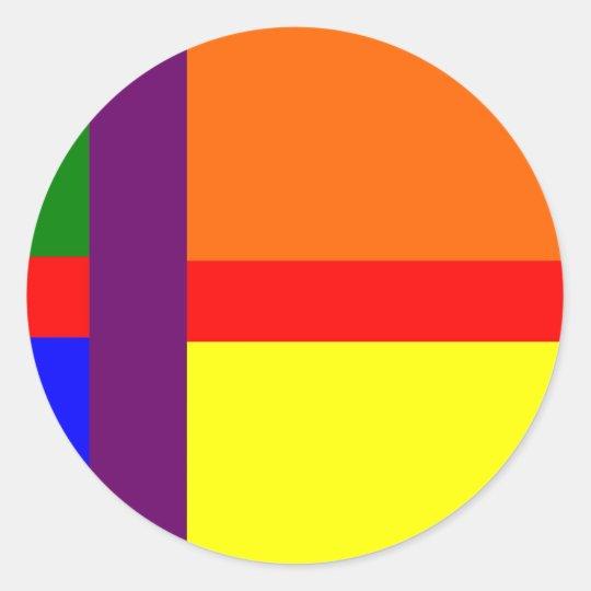 Danish Gay Pride Flag Classic Round Sticker