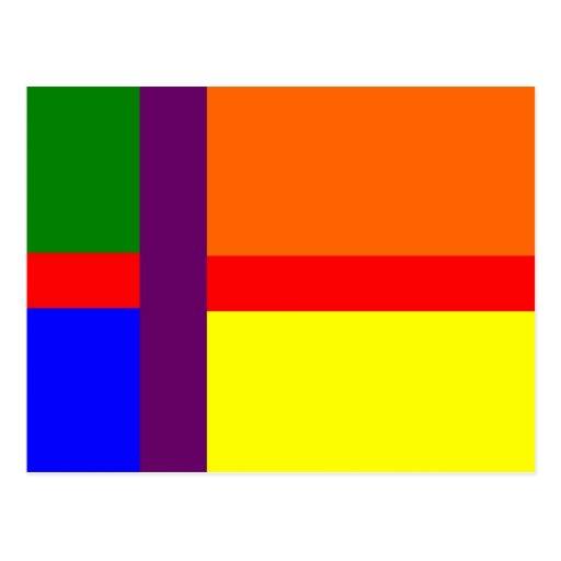 Danish Gay Pride Flag Postcard