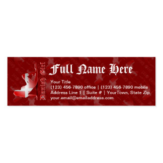 Danish Girl Silhouette Flag Business Card