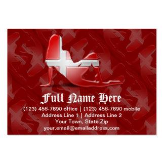 Danish Girl Silhouette Flag Business Cards