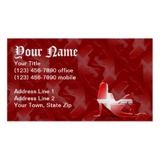 Danish Girl Silhouette Flag Business Card Template