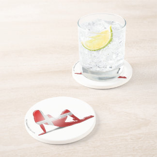 Danish Girl Silhouette Flag Beverage Coasters