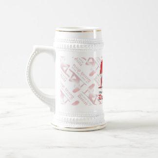 Danish Girl Silhouette Flag Coffee Mugs