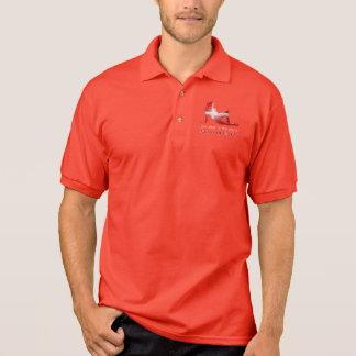 Danish Girl Silhouette Flag Polo Shirt