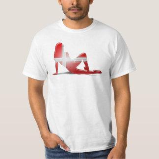 Danish Girl Silhouette Flag T-Shirt