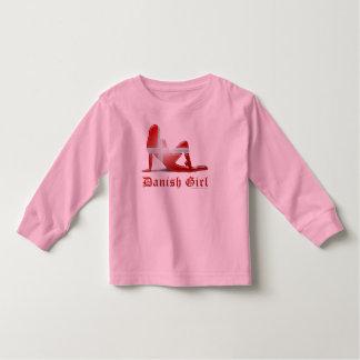 Danish Girl Silhouette Flag Toddler T-shirt