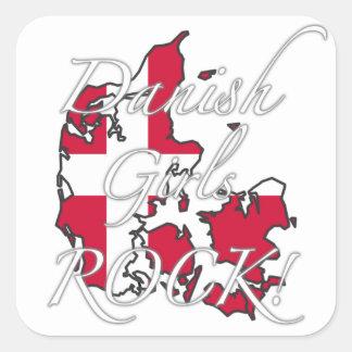 Danish Girls Rock! Square Sticker