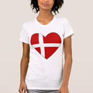 Danish Heart Valentine Flag T-Shirt