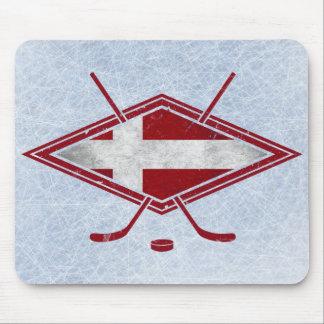 Danish Hockey Flag Logo Mouse Pad