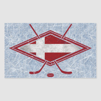 Danish Hockey Flag Logo Stickers