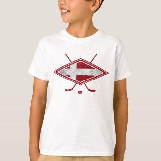 Danish Hockey Flag Logo T-Shirt