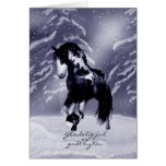 Danish Horse Christmas Card - Digital Painting - G