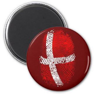 Danish identity Dansk fingerprint DNA gifts Magnet