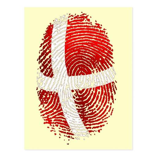 Danish identity Dansk fingerprint DNA gifts Post Cards