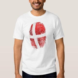 Danish identity Dansk fingerprint DNA gifts T Shirt