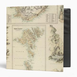 Danish Islands in the North Atlantic Ocean Vinyl Binder